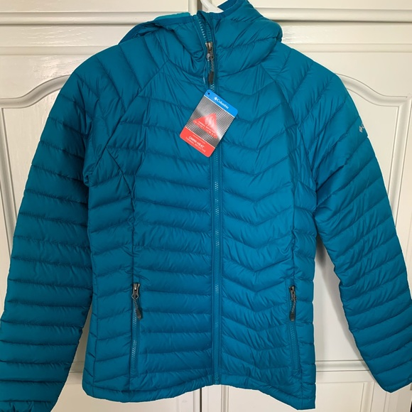 Columbia Jackets & Blazers - Columbia Powder Lite Hooded Jacket in Siberia Blue
